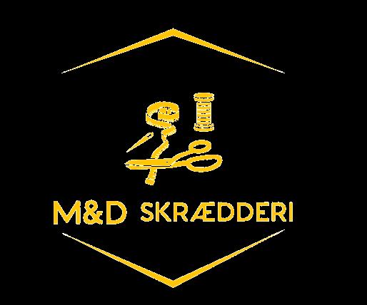 M&D skrædderi og renseri-logo